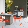 Lucinda orange stacking chair