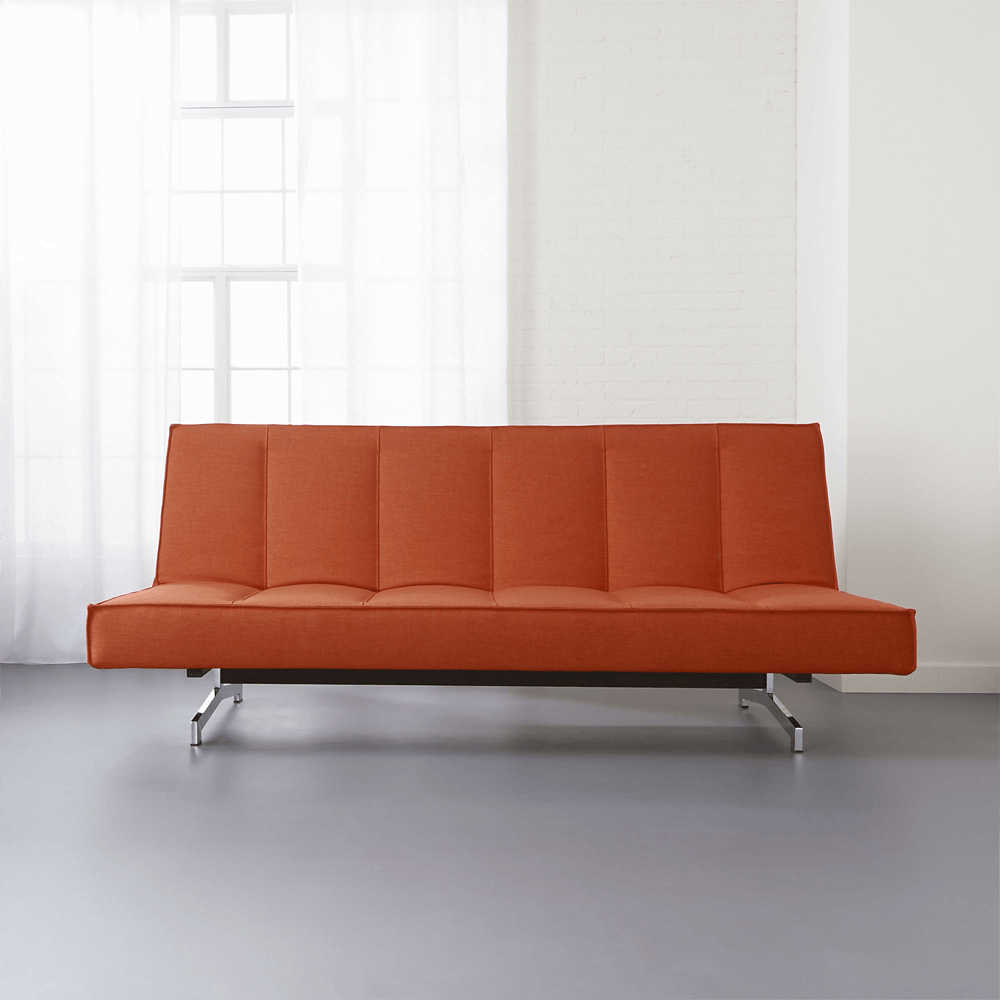 - Flex Orange Sleeper Sofa - Furniture