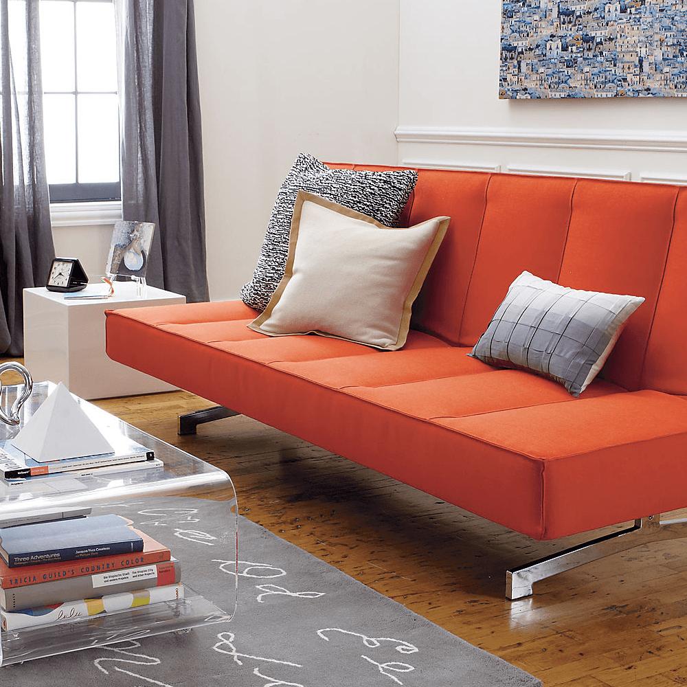 Flex orange sleeper sofa   Furniture